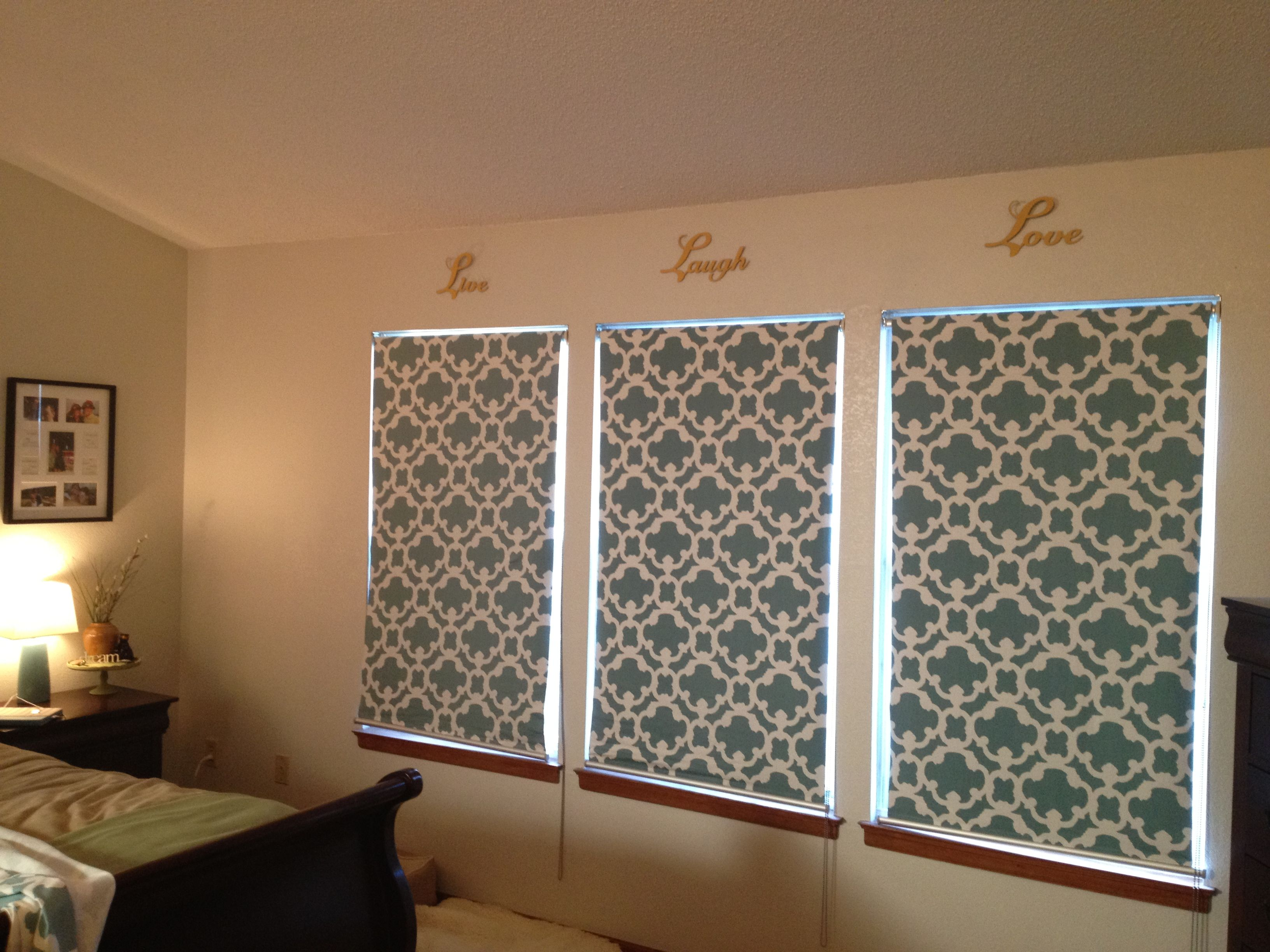 Shower Curtain From Target Fabric Glue Over Existing Roller Blinds Home Is Where The