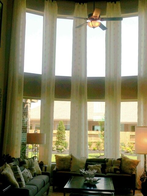 Tall curtains, for tall windows. | Decorating ideas ...