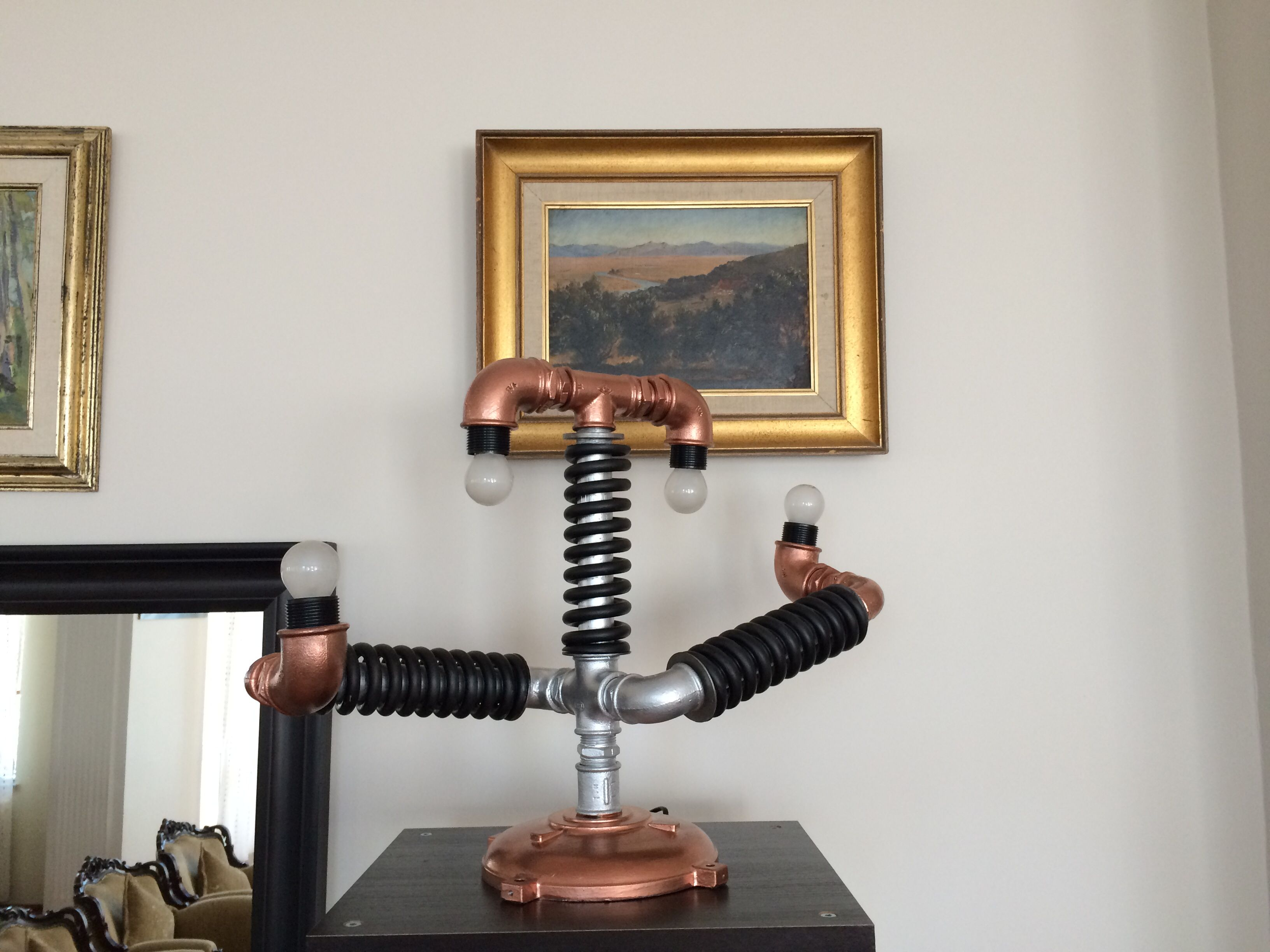 Pipe and engine parts lamp