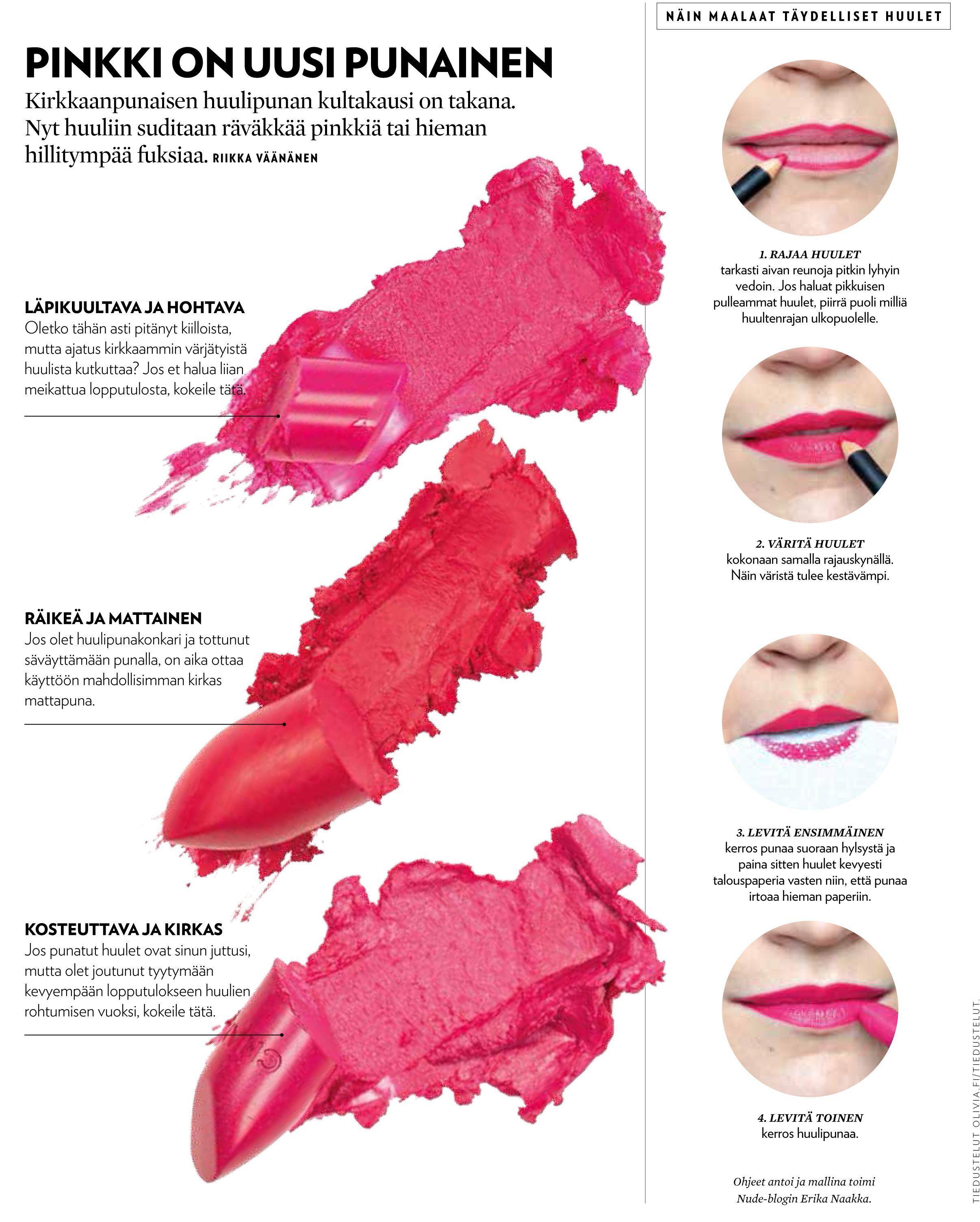 Täydellisen pinkit huulet.  pink lipstick, perfect lips, lipliner, pinkki huulipuna, täydellinen huulipunaus, huultenrajaus
