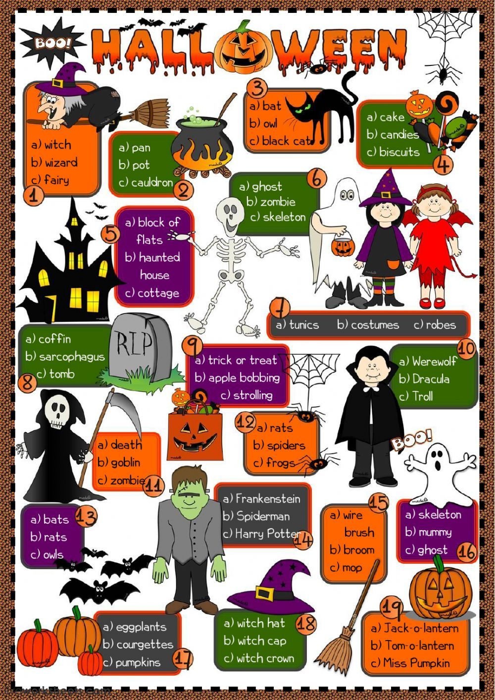 Halloween Interactive And Downloadable Worksheet You Can Do The Exercises Online Or Download The Wor Halloween Vocabulary Halloween Worksheets Halloween Words [ 1413 x 1000 Pixel ]