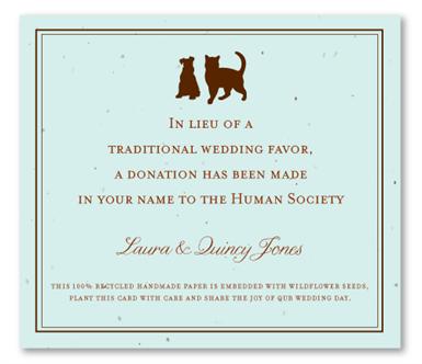 Donation Favors cards | Cat & Dog (plantable) | Plantable ...