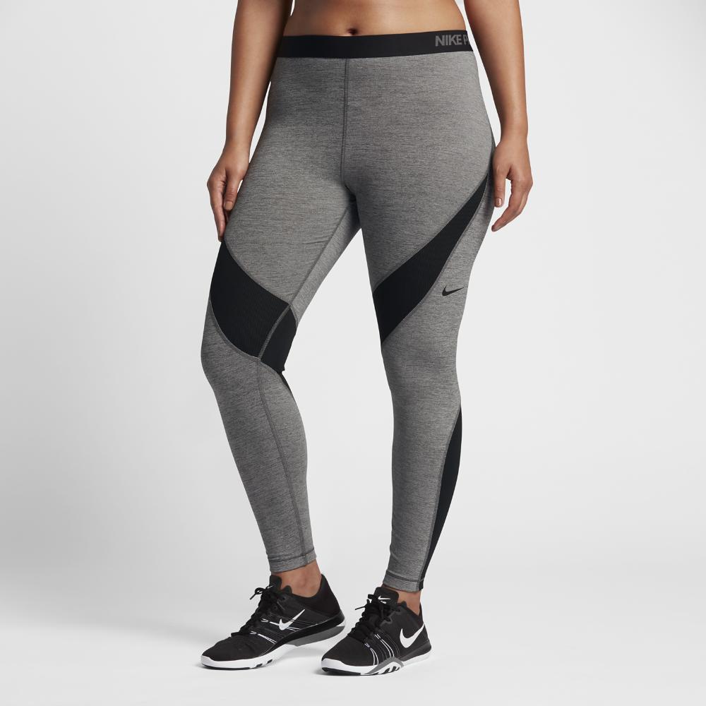 5c9c695da1bf9 Nike Pro HyperWarm (Plus Size) Women's Training Tights Size 2X (Grey) -  Clearance Sale