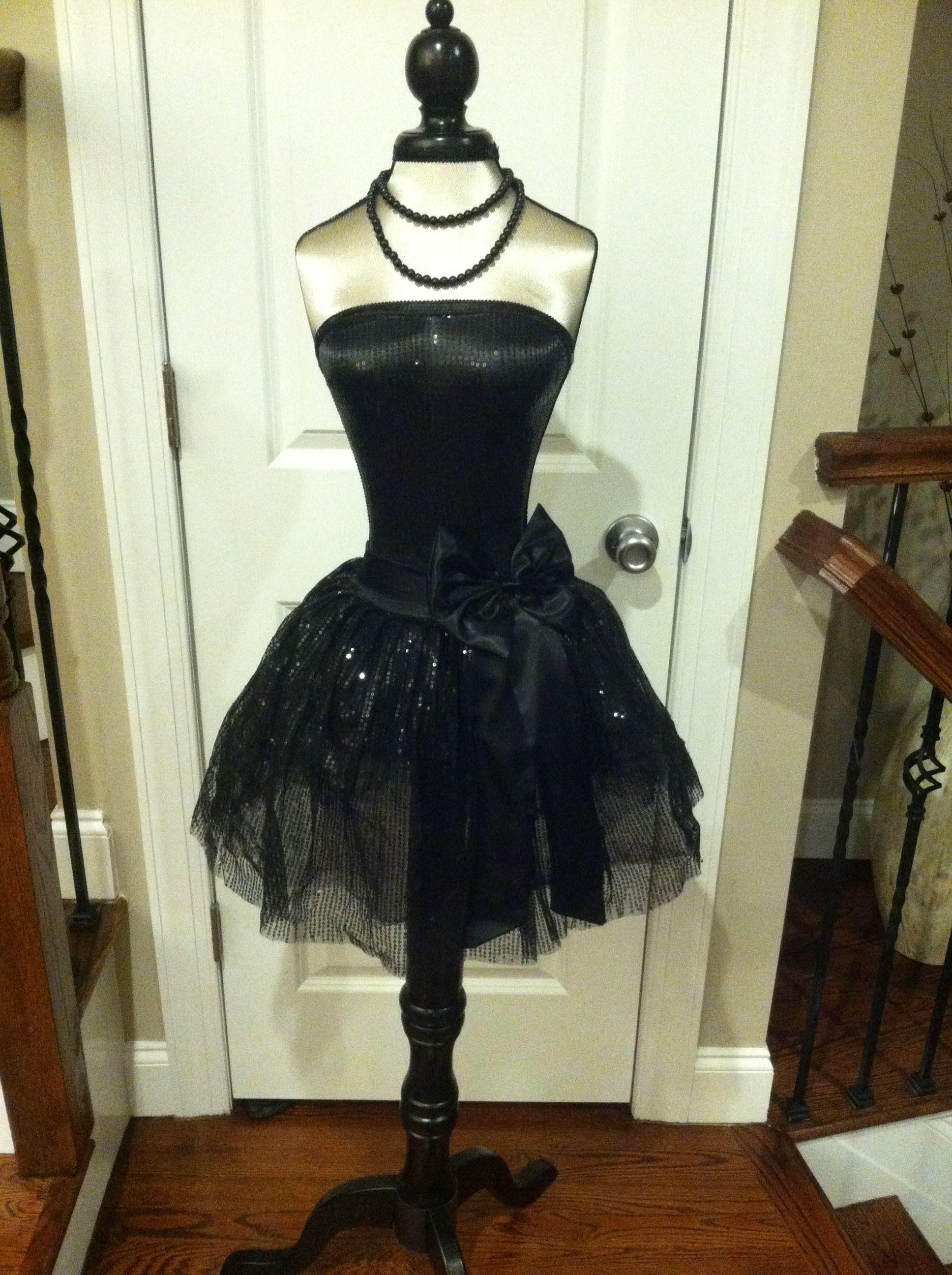 My Little Black Dress Themed Bridal Shower Mannequin From Hobby