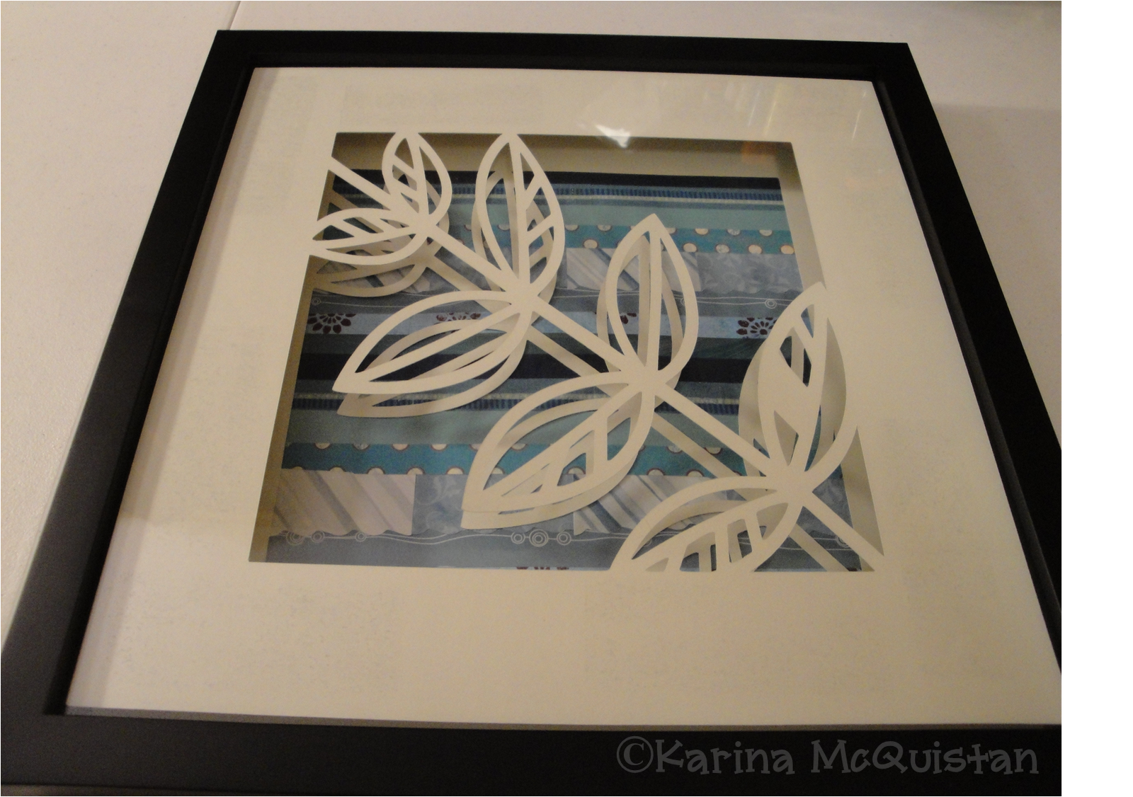 Shadow Box Frame With 3d Effect Matting Super Easy To Do Shadow Box Frames 3d Paper Art Diy Crafts