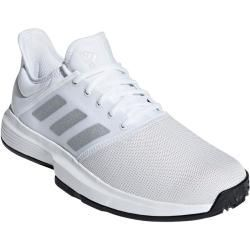 Reduced tennis shoes for men  adidas GameCourt Clay 2019 white  silver tennis shoes men adidasadidas