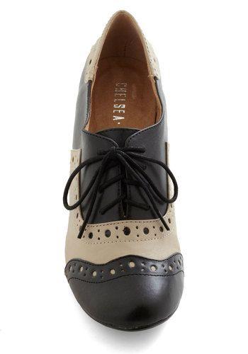 School-astic Heel in Black, #ModCloth