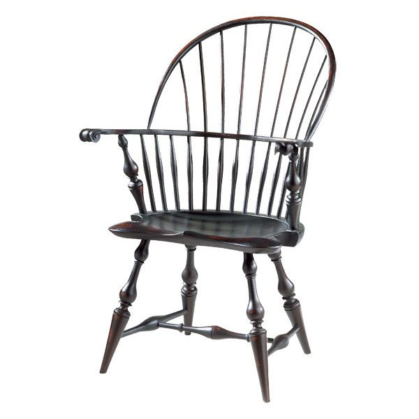 D.R.DIMES Windsor Chairs Bowbacks & Sack-Backs - Wallace Nutting Windsor Arm Chair found on Polyvore featuring polyvore, home, furniture, chairs and wallace