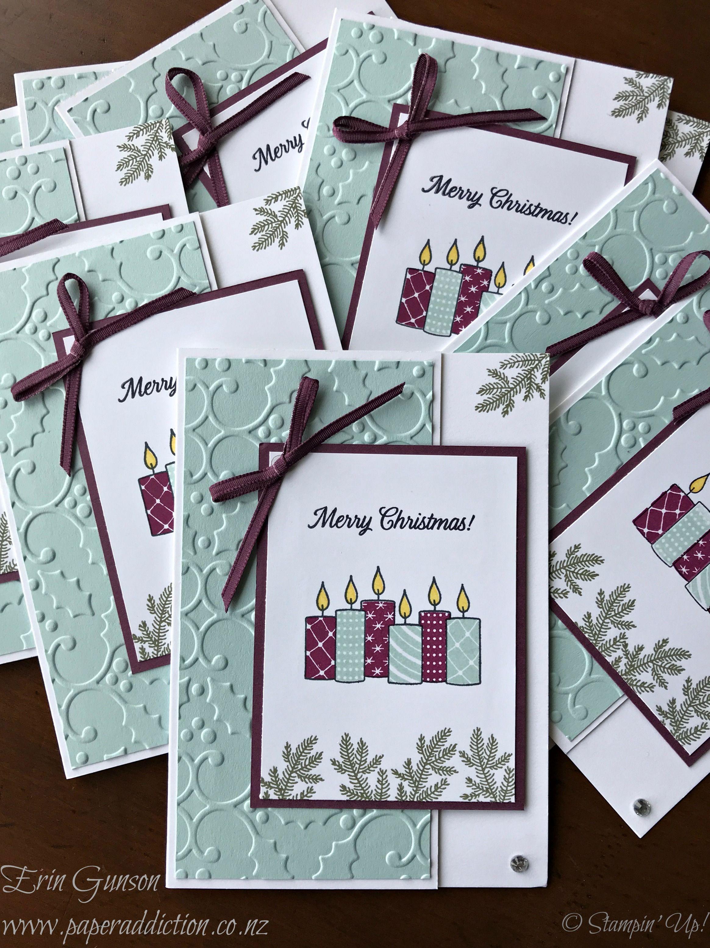 Superior Card Making Ideas Nz Part - 14: Stampin Up Merry Patterns Christmas Card. Erin Gunson Www.paperaddiction.co. Nz