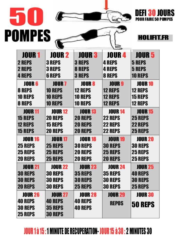 comment reussir faire 50 pompes en 30 jours d fis pompes danse pinterest 30 jours. Black Bedroom Furniture Sets. Home Design Ideas