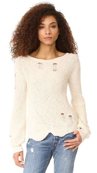 dacfcdd179 Pam   Gela Shredded Sweep Sweater