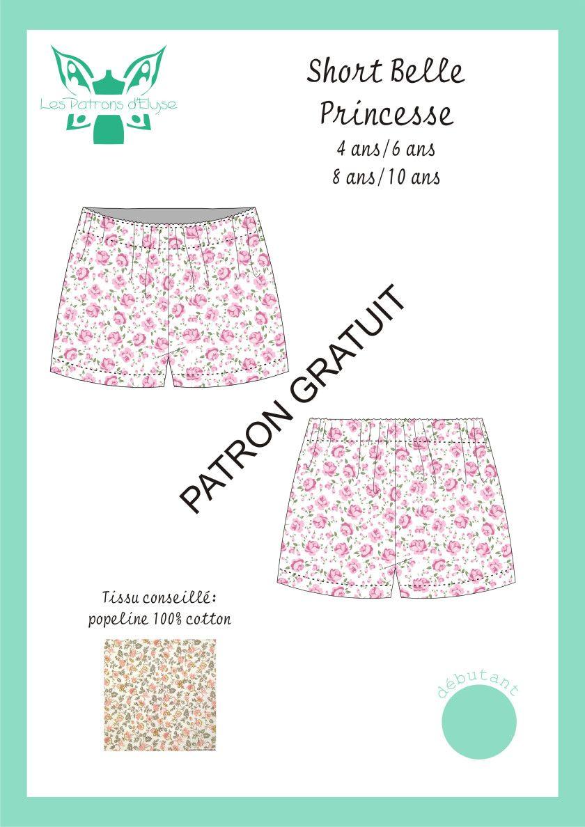 Short Belle Princesse | Tuto couture, Patron