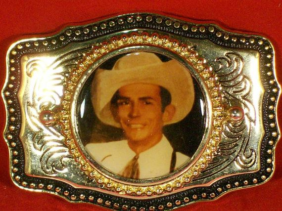 Vintage Hank Williams Senior Trophy Belt Buckle By