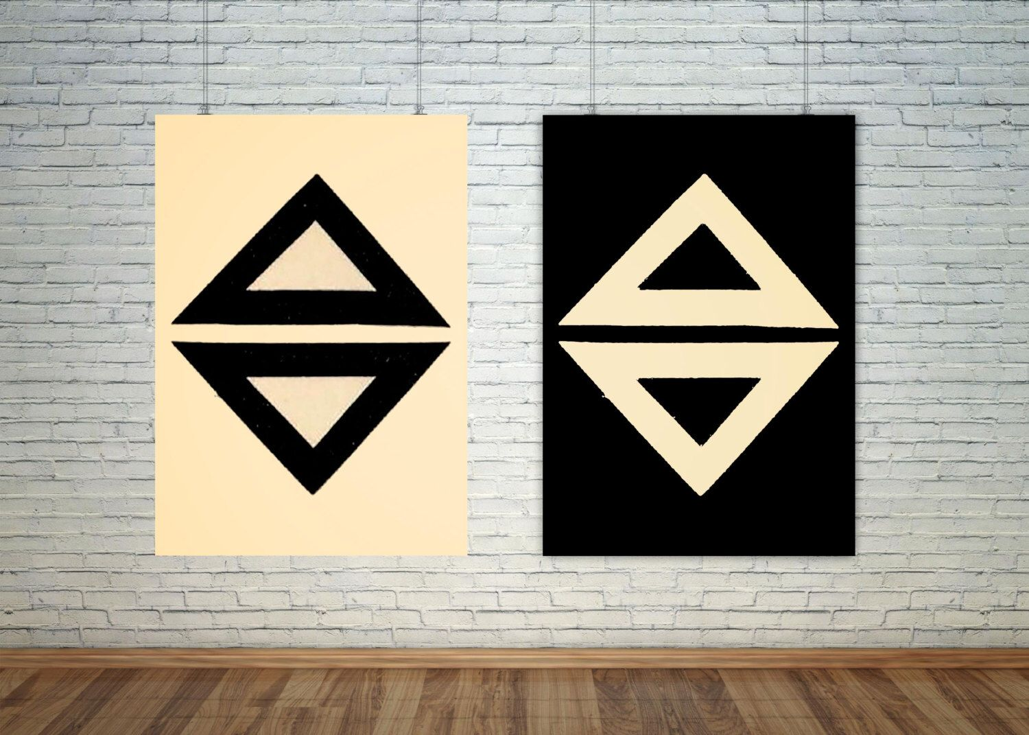 A personal favorite from my Etsy shop https://www.etsy.com/listing/463481967/japanese-imagery-triangle-design-set-of