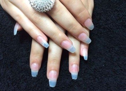 21 trendy nails almond acrylic shape  clear acrylic