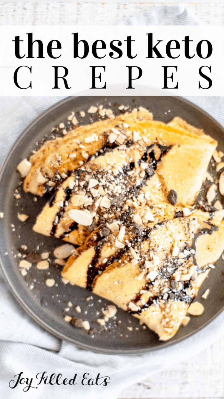 Keto Crepes GlutenFree Low Carb SugarFree GrainFree THM S  Crepes are an easy and delicious breakfast brunch or dessert You can top them with everything from chocolate an...