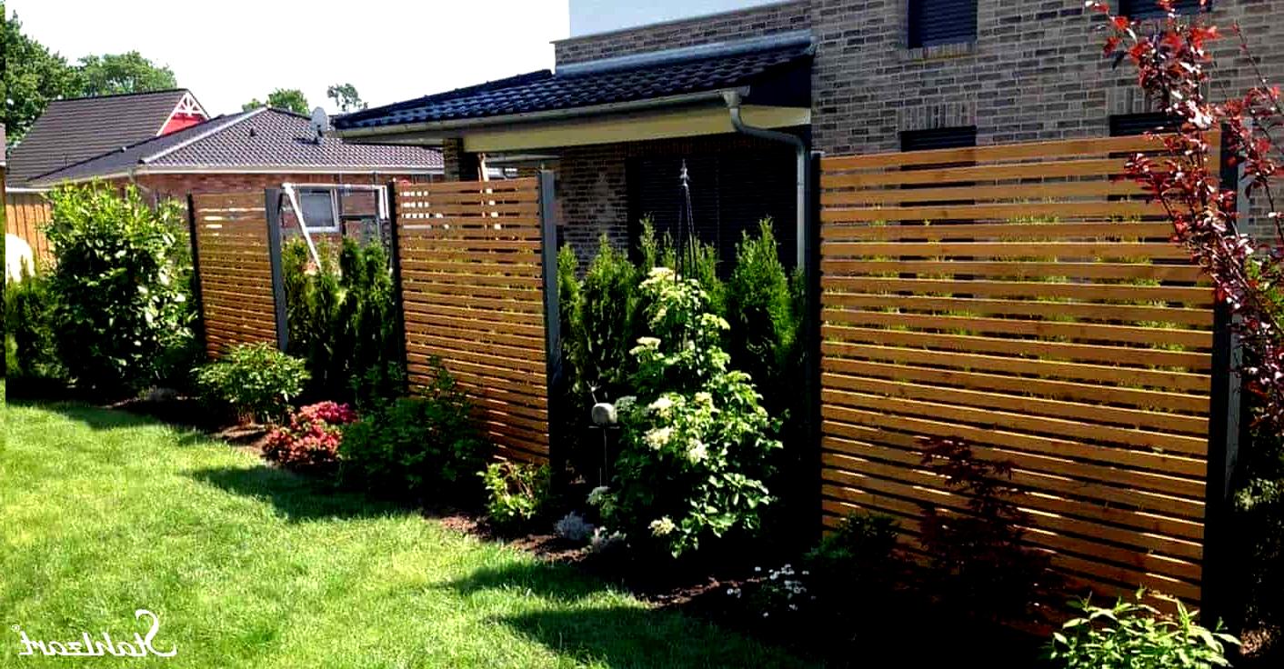 Sichtschutz Garten Holz Larche Metall Anthrazit Modern Sta In
