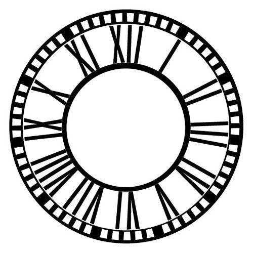 classical clock face vinyl wall decal | steampunk home | pinterest