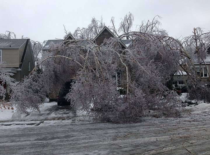 On December 22, 2013, a major ice storm covering an area from Ontario to as far east as the maritime provinces in Canada. reports placed the peak number in Ontario without power at 600,000 [131] The storm also caused widespread power outages in mid-Michigan. According to reports, as many as 500,000 lost power with restoration efforts expected through December 29.   #poweroutage #beprepared #generatoraid #icestorm2015
