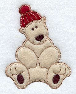 Christmas Polar Bear (Heirloom Applique) Stocking idea