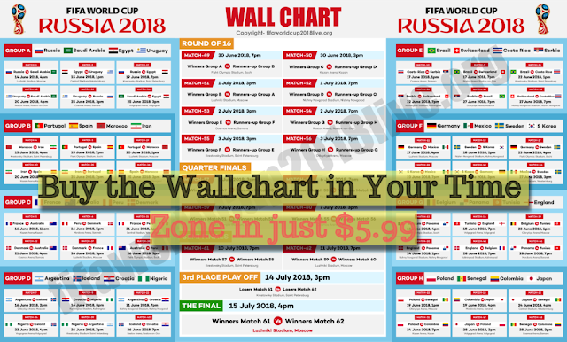 Fifa World Cup 2018 Free Wallchart Download Here To Keep Track Of The Fixtures And Schedule