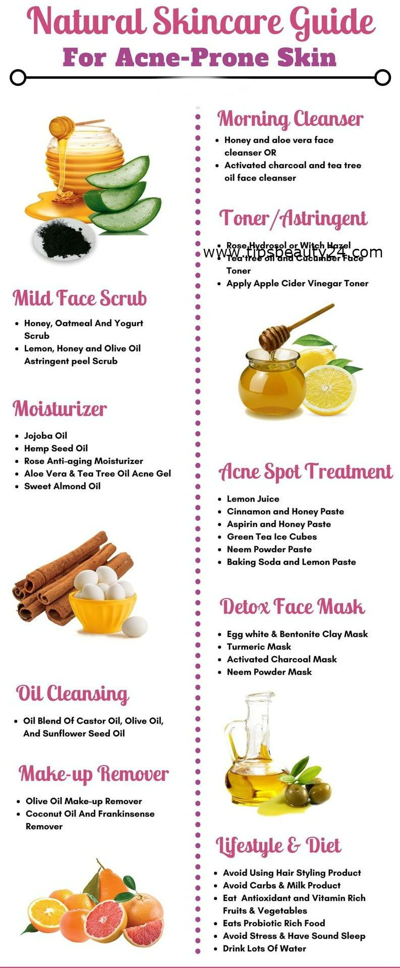 Here Are An Amazing Natural Skincare Guide For Acne Prone Skin Skincare Skincareroutine Skincarerecipes Acn Skin Care Guide Acne Prone Skin Natural Skin Care