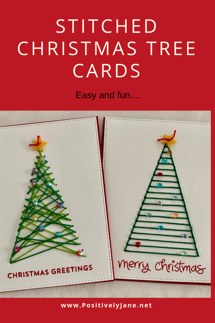 Christmas Seems To Come Faster Every Year I Try To Stay Ahead Of The Season And Make Christmas Cards All Y Christmas Tree Cards Tree Cards Stitching On Paper