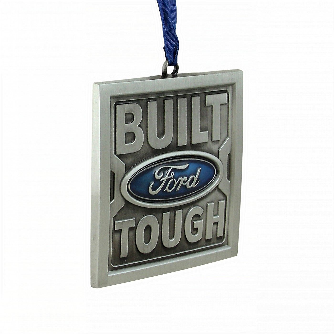 Northlight 3¡± Officially Licensed ¡°Built Ford Tough¡± Nickel Plated Christmas Tree Ornament