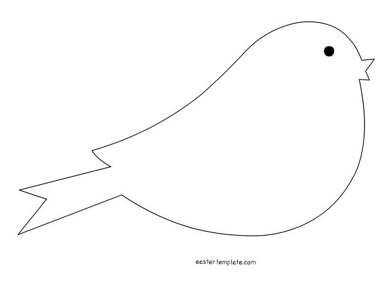 Bird Template Shapes  Gift Tag Ideas    Bird Template