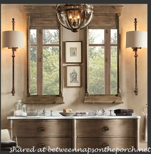 Restoration Hardware Inspired Bathroom