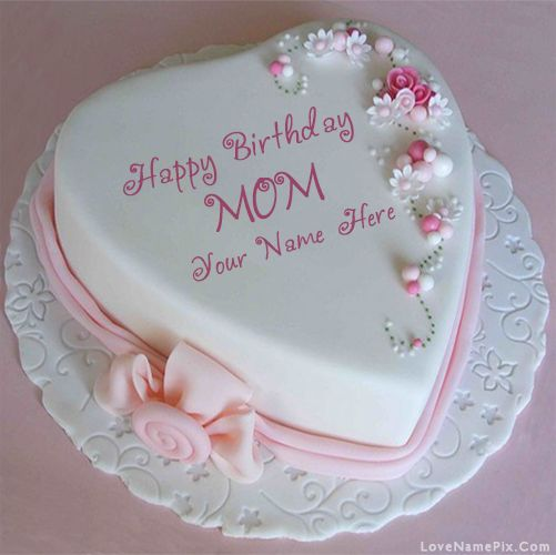 Name Birthday Cake For Mothers With Name Photo Happy Birthday