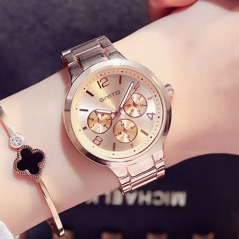 75102dc677854 Cheap feminino, Buy Quality feminino relogio Directly from China  Suppliers GIMTO Small Brand Rose Gold Women Watch Steel Luxury Ladies Watch  Creative Girl ...
