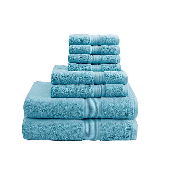 Madison Park Signature 800gsm 100 Cotton 8 Piece Towel Set