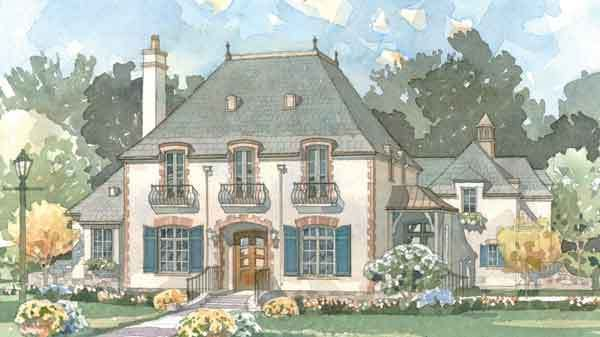 Sl1705 French House Plans Southern House Plans French House