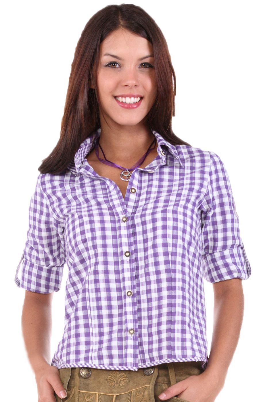 Stockerpoint Trachtenbluse Charo lila Trachten Bluse