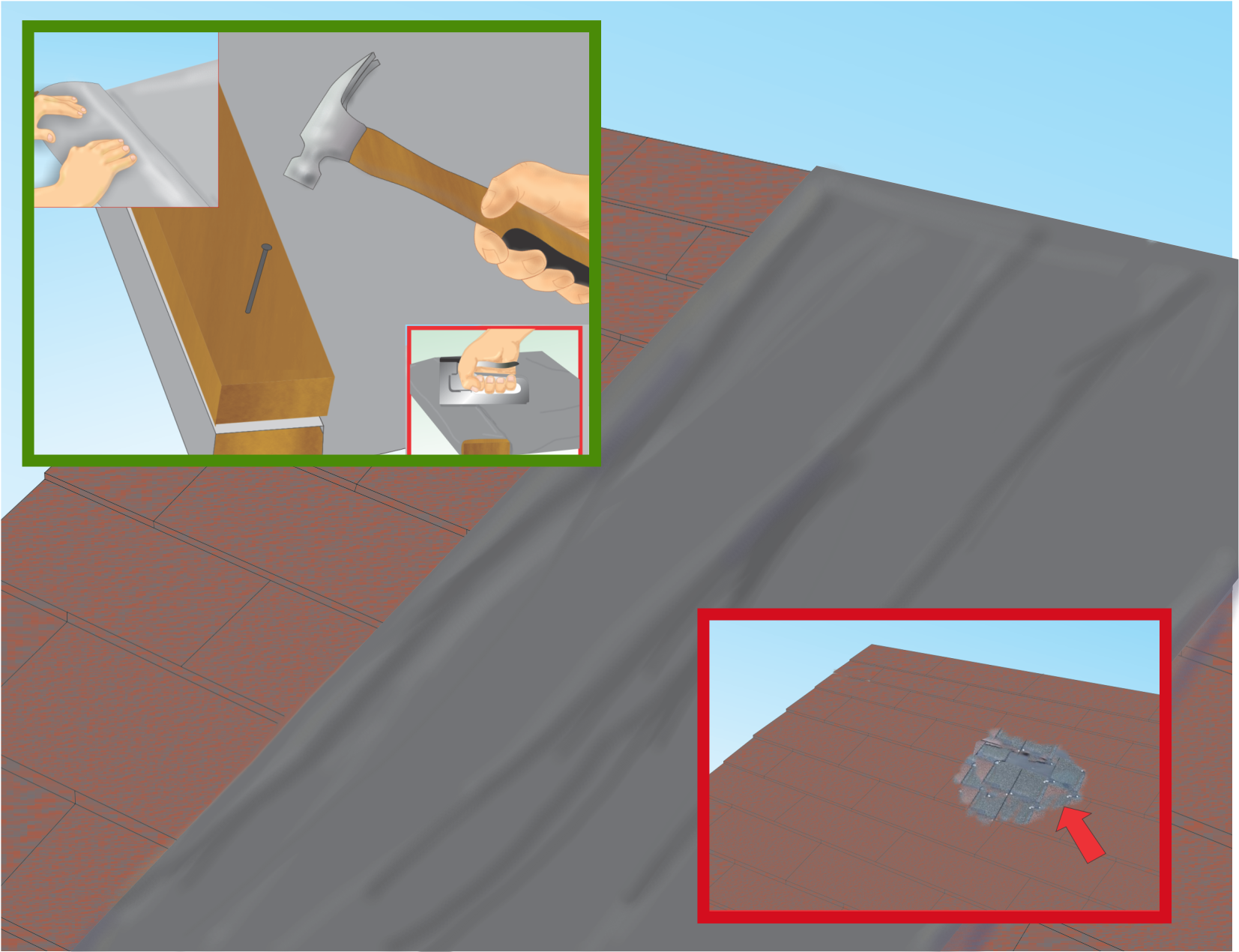 How To Tarp A Roof Roof Roofing Tarps