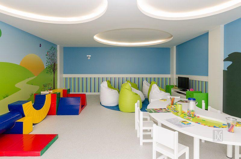 Espaço kids empreendimento Privilege, construtora Cyrela Goldsztein. Projeto e execução do escritório especializado em áreas condominiais de Porto Alegre, BG arquitetura.