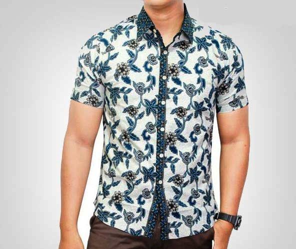 Model Baju Batik Pria Lengan Pendek Modern Baju Batik Terbaru