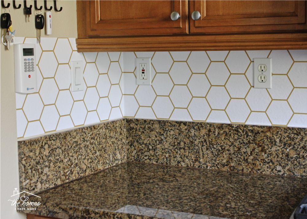How To Wallpaper A Backsplash Backsplash Kitchen Backsplash Wallpaper