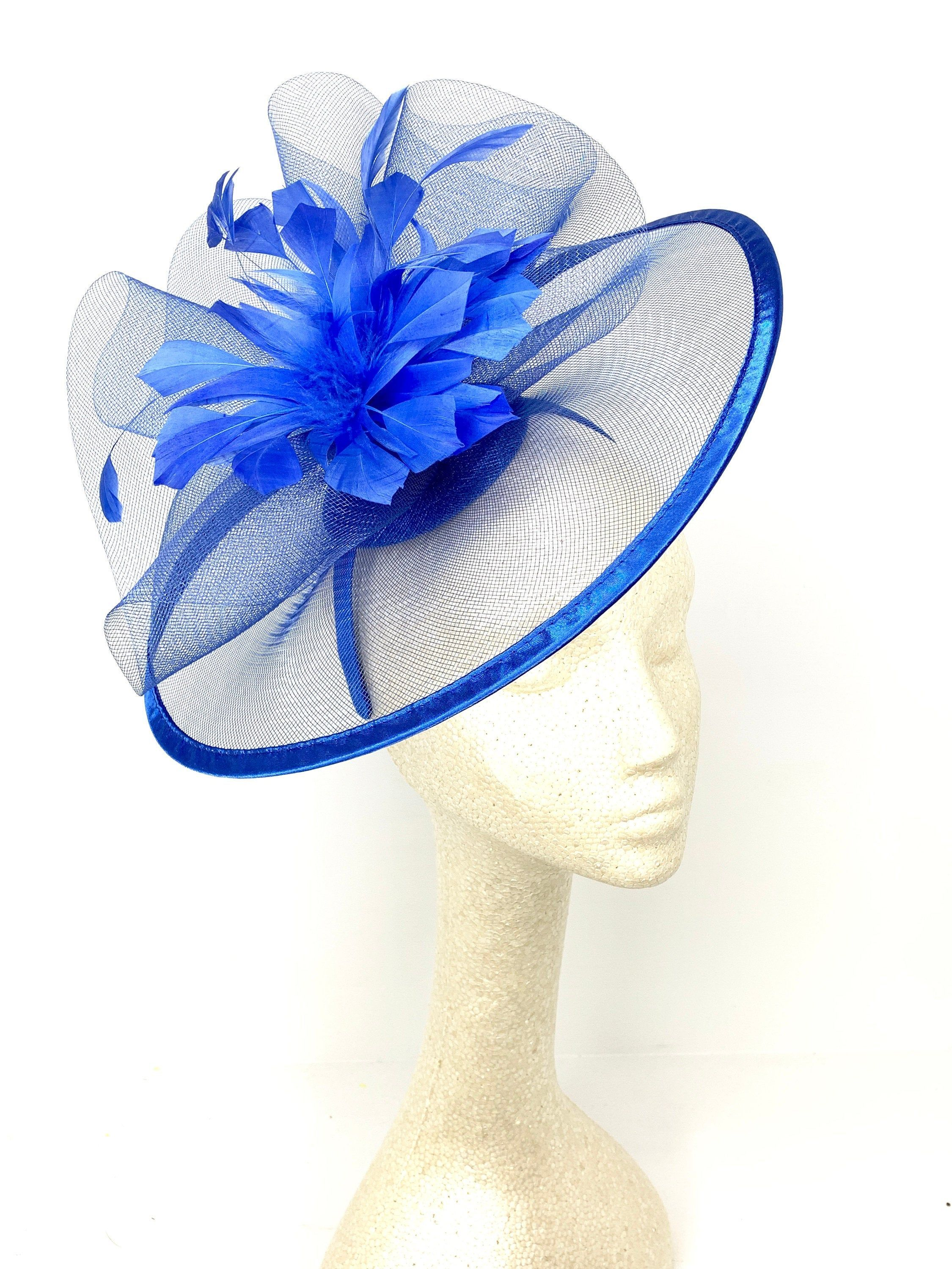 FACINATORS NETTING /& FEATHER /& flower  on a headband in 2 colour boxed