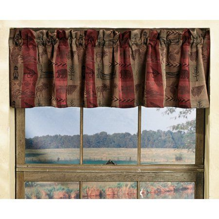 Buy High Country Rustic Valance Wilderness Window Decor At Walmart Com Rustic Valances Country Valances