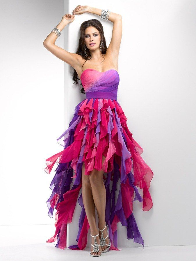 This Dress Is An Example Of Harmony As It Includes Asymmetrical Balance Rhythm Through The Movement And Gradation In Unique Dresses Prom Girl Dresses Dresses