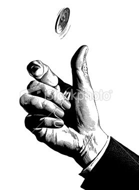 Hand Flipping coin | S T O C K | Coins, Flip photo, Drawings