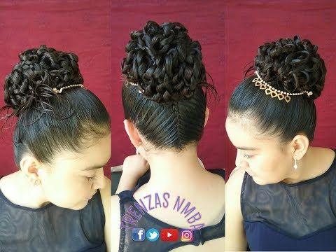 Peinados con cabello recogido para primera comunion