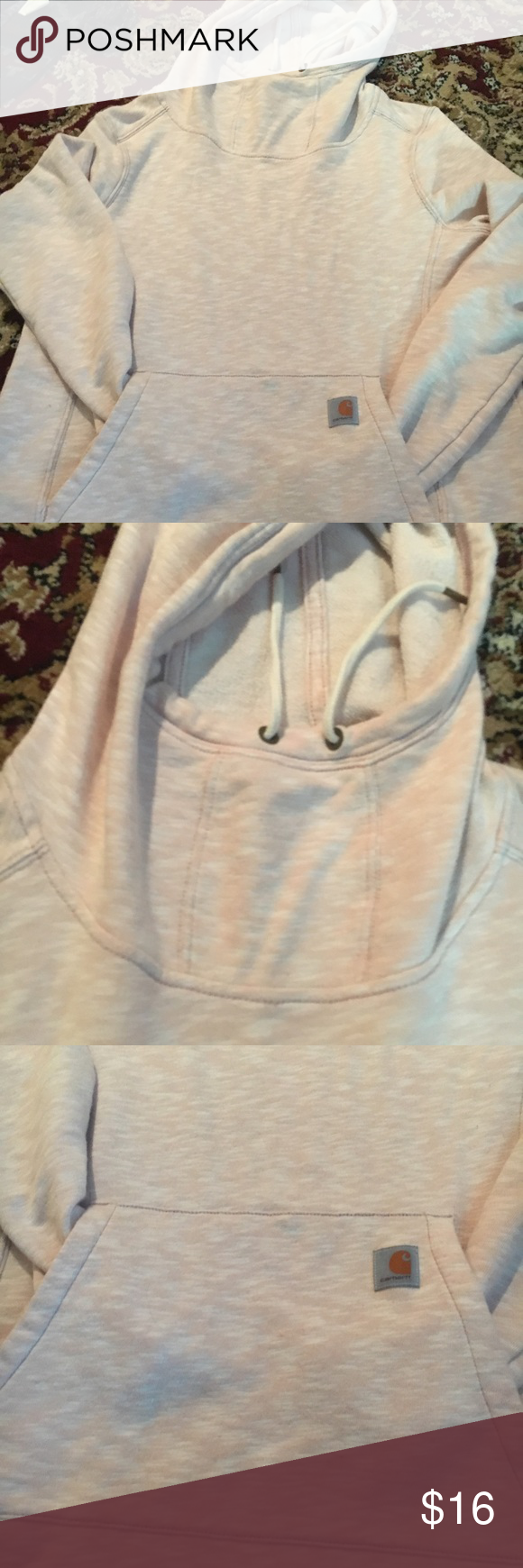 Carhartt women's size medium light sweatshirt Light pink semi fitted medium Carhartt top. Has a hood and front pocket. This is a women's top. It has slight wear but in overall great condition Carhartt Tops Sweatshirts & Hoodies #carharttwomen Carhartt women's size medium light sweatshirt Light pink semi fitted medium Carhartt top. Has a hood and front pocket. This is a women's top. It has slight wear but in overall great condition Carhartt Tops Sweatshirts & Hoodies #carharttwomen