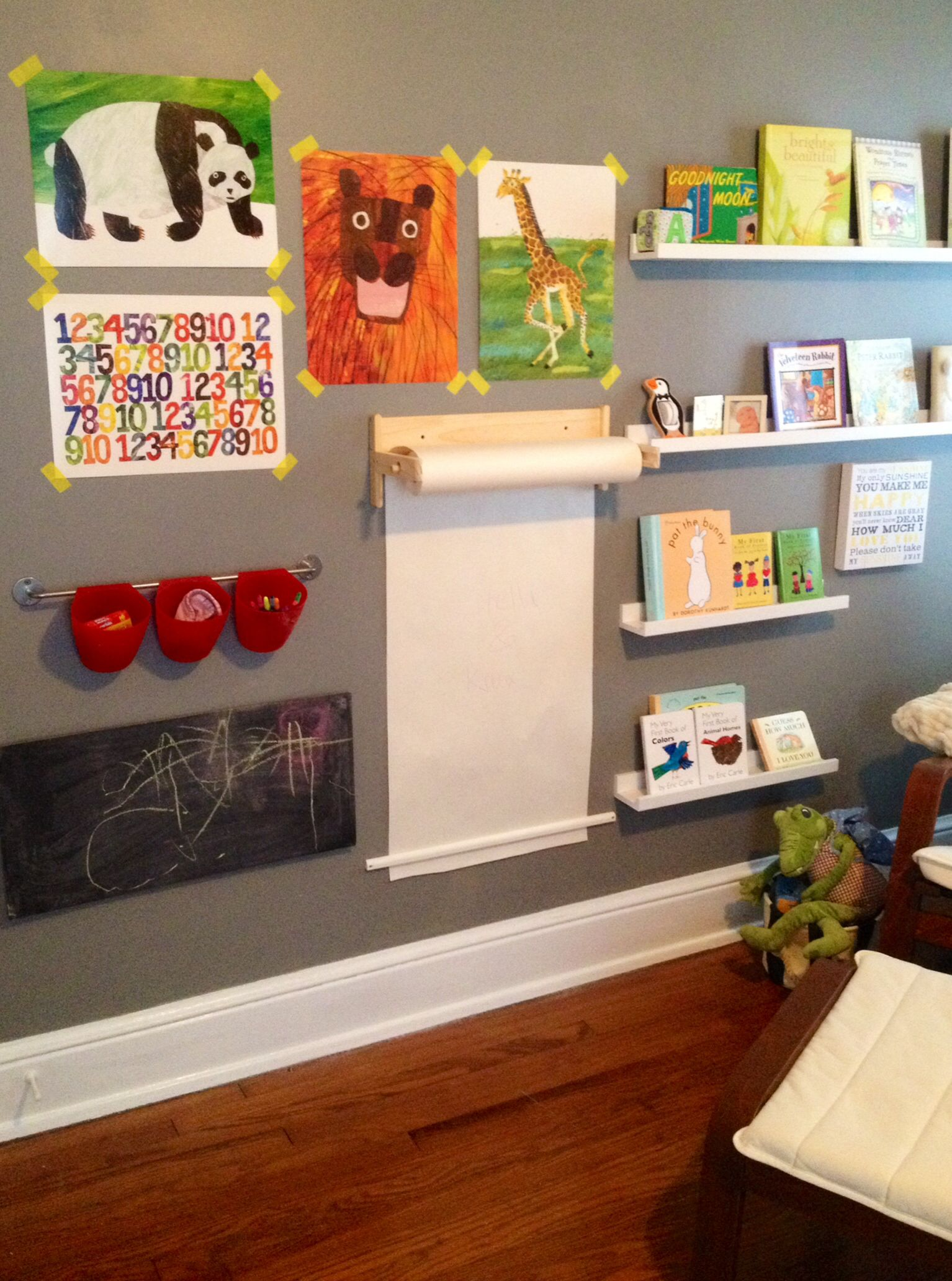 "Playroom Wall Decor gender neutral nursery: possible idea for ""wall art"" 
