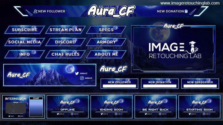 Imageretouchlab i will design custom twitch overlays