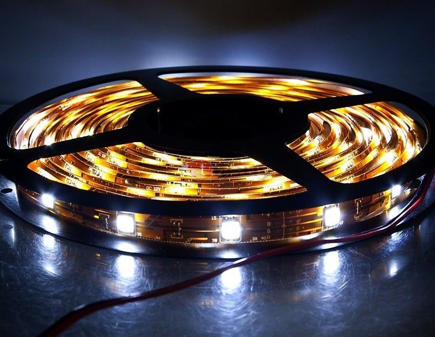5m 150-SMD5050-LED 6500K DC12V White Light Car Light Strip (White)