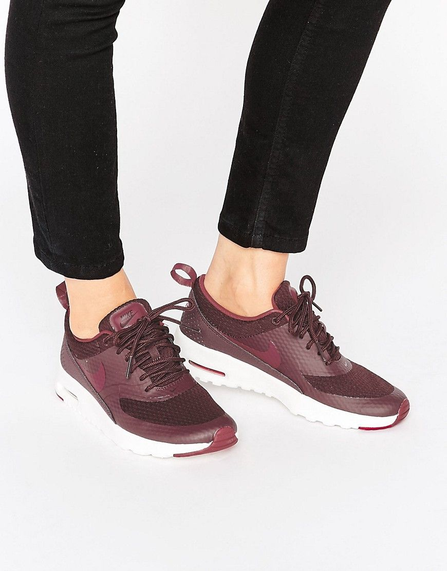 Buy it now. Nike Air Max Thea Trainers In Burgundy Red