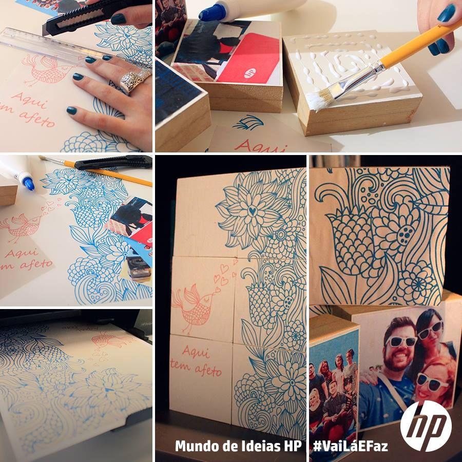 Aprenda a fazer cubos decorativos com fotos! / Learn how to make a cool photo cube.  #vailaefaz #mundodeideiashp #DIY #decor #fotos #facavocemesmo #passoapasso